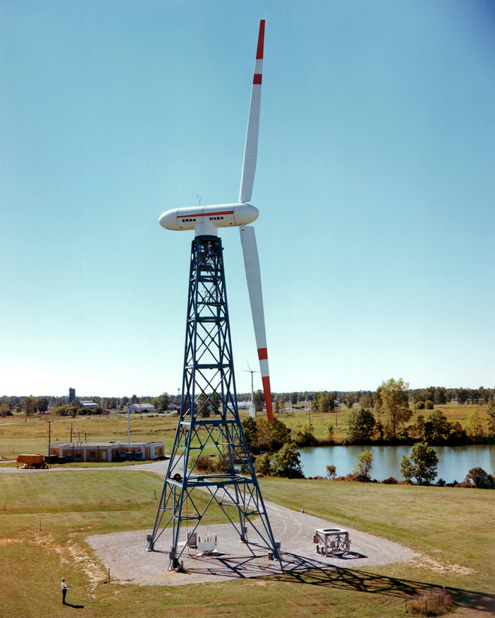 Space History Photo: A 100-kilowatt Wind Turbine