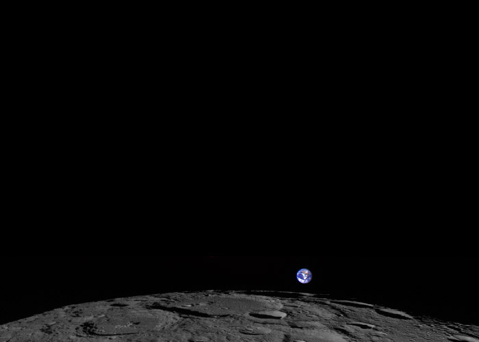 Earthrise From Moon Feb. 1, 2014