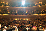 The International Space Orchestra receives a standing ovation at Davies Symphony Hall. Image taken by Nelly Ben Hayoun.