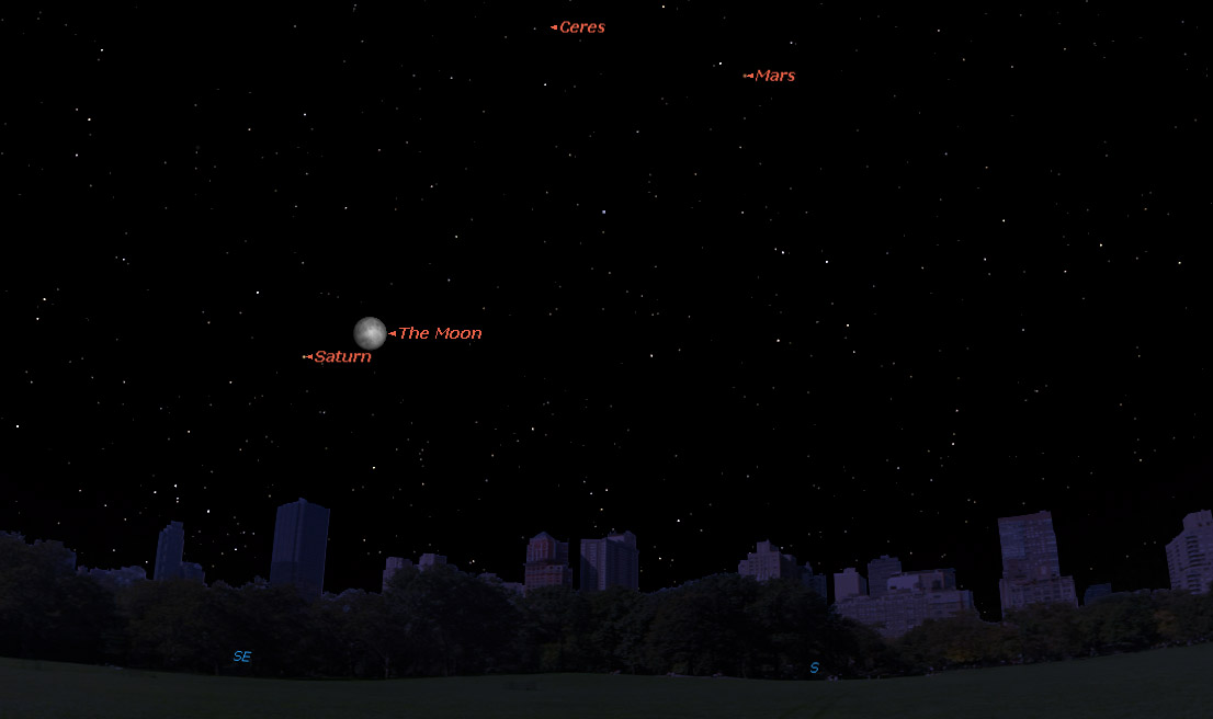 See Saturn Shine Near the Moon Tuesday
