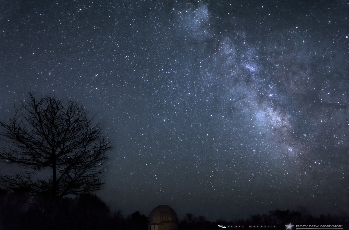 Milky Way Seen at Frosty Drew Observatory