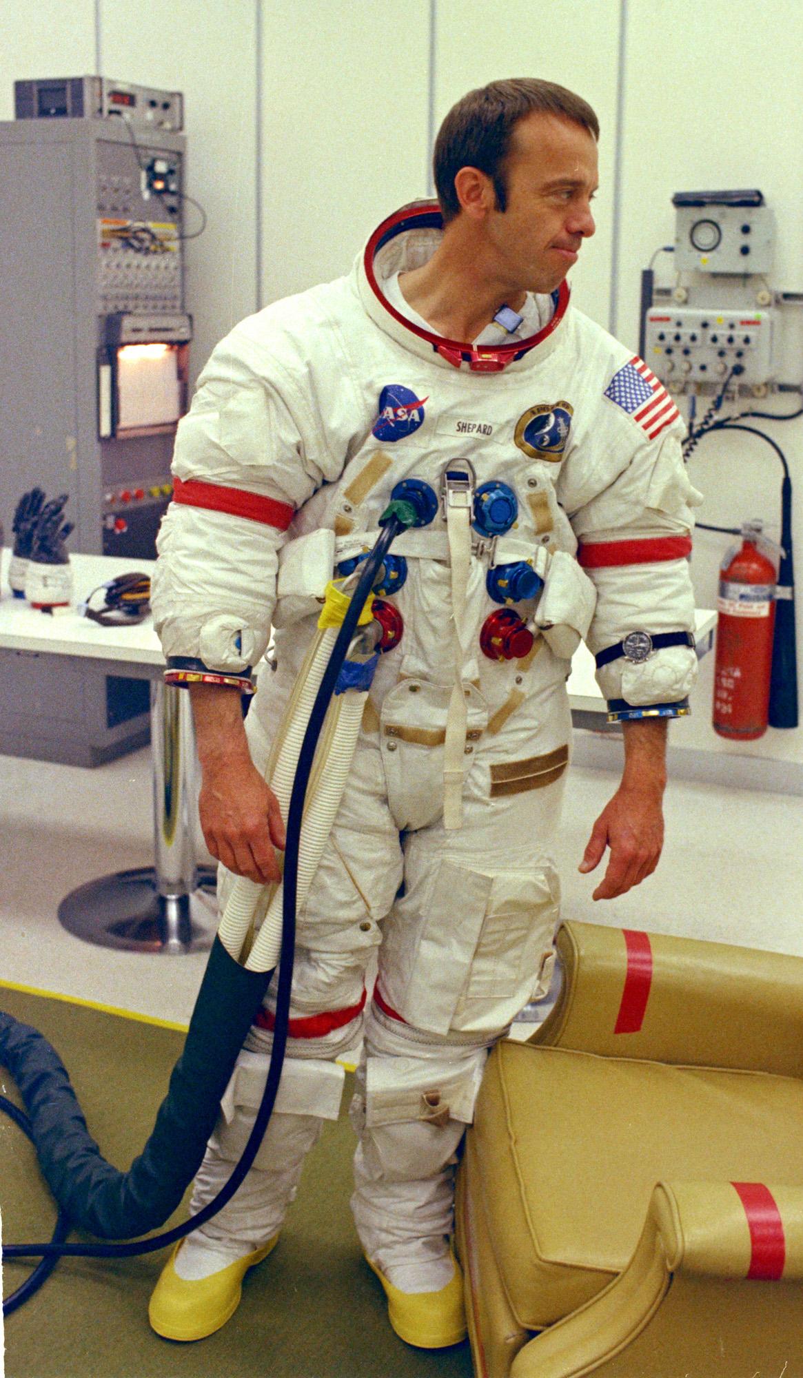 Apollo 14 commander Alan Shepard