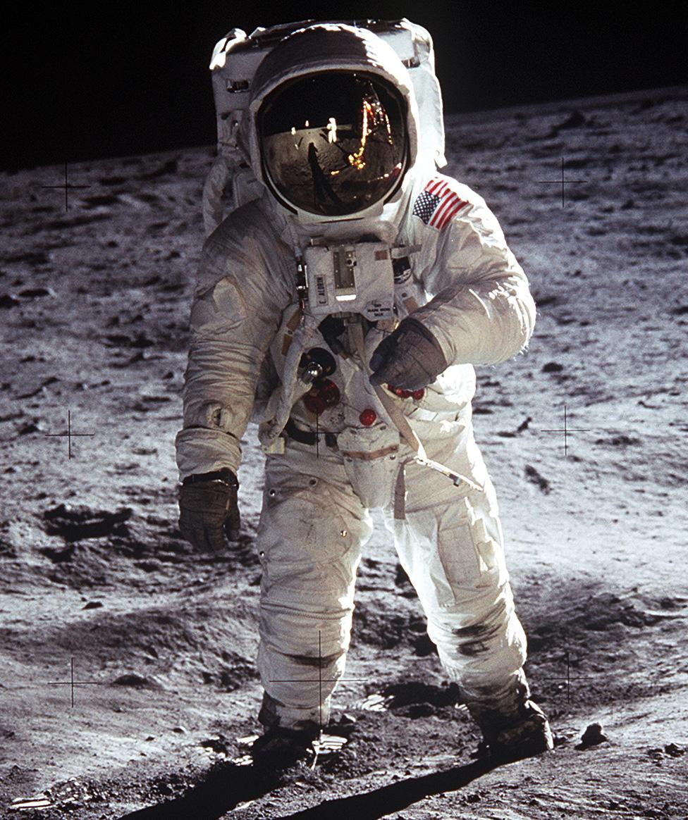 Buzz Aldrin on Moonwalk