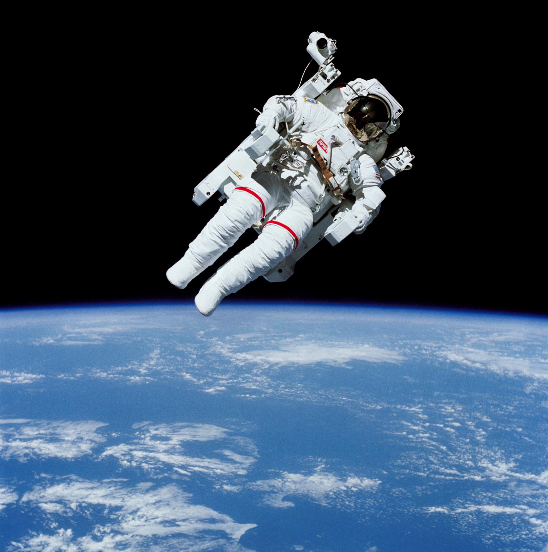 Floating Free Spacesuit