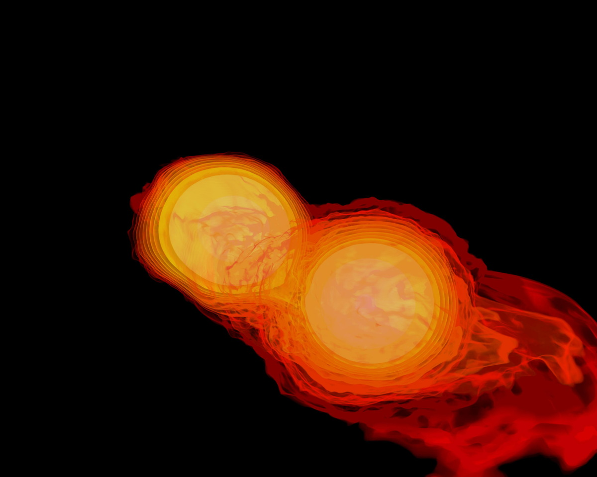 Watch 2 Neutron Stars Merge and Form Black Hole