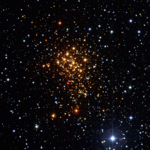 Image of star cluster Westerlund 1 taken by the European Southern Observatory's La Silla Observatory in Chile.
