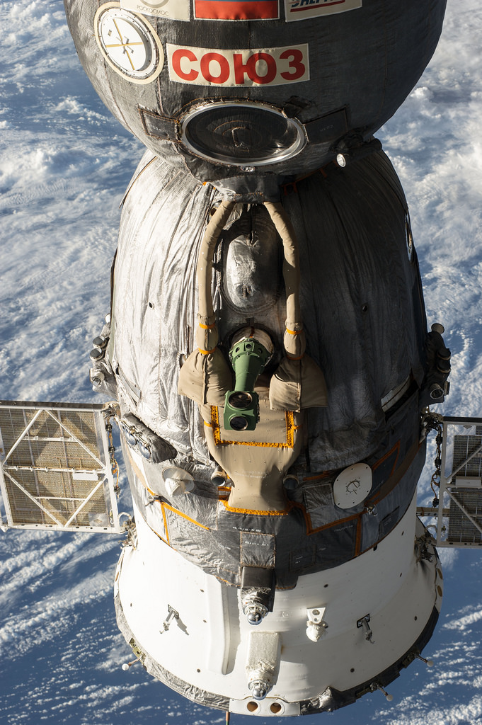 Soyuz Spacecraft Docked During Expedition 39