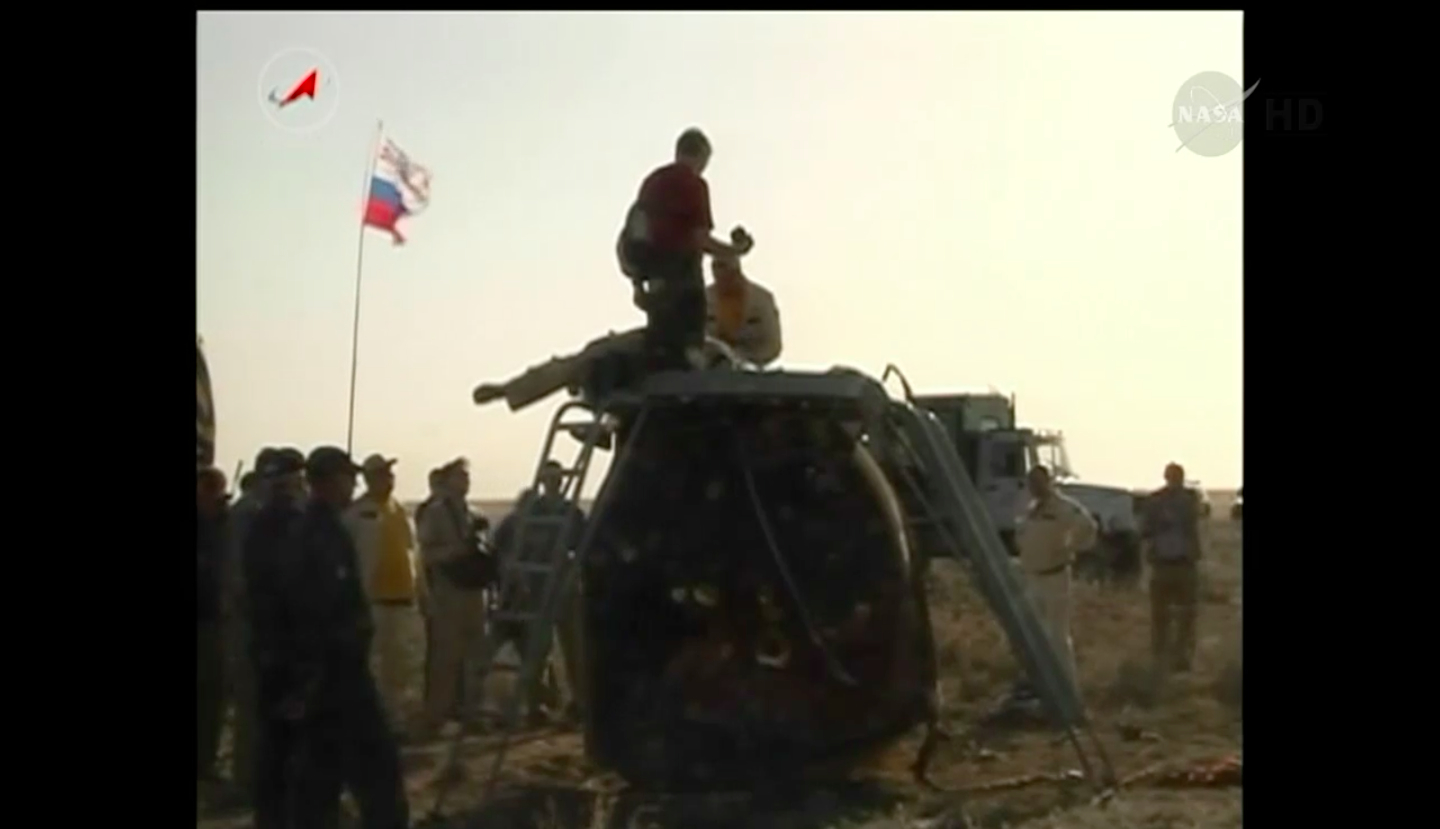 Russian Soyuz Capsule on the Ground, May 13, 2014