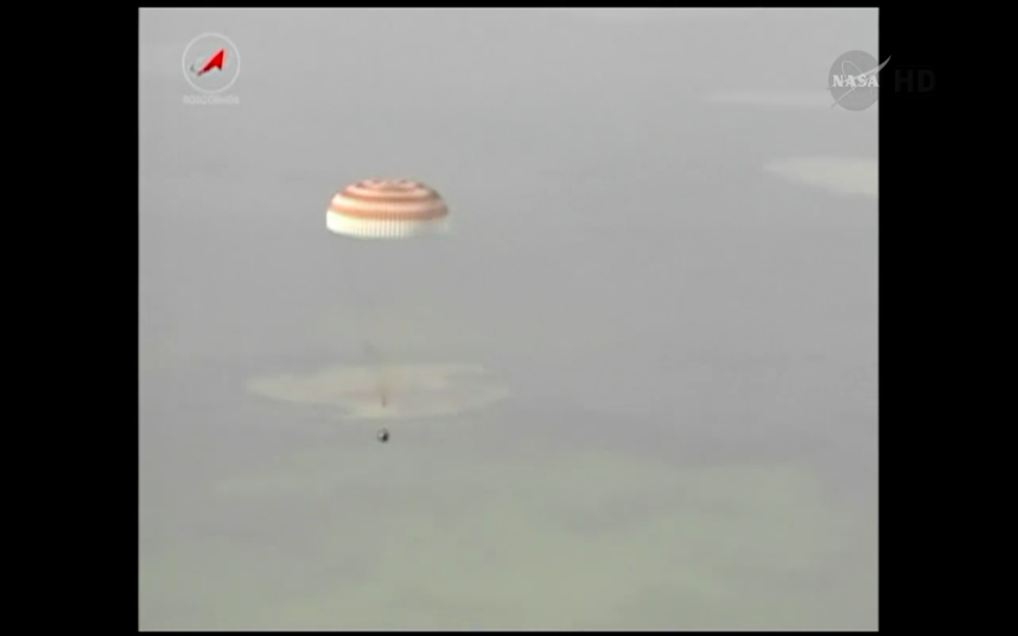Soyuz Capsule Descends to Earth, May 13, 2014