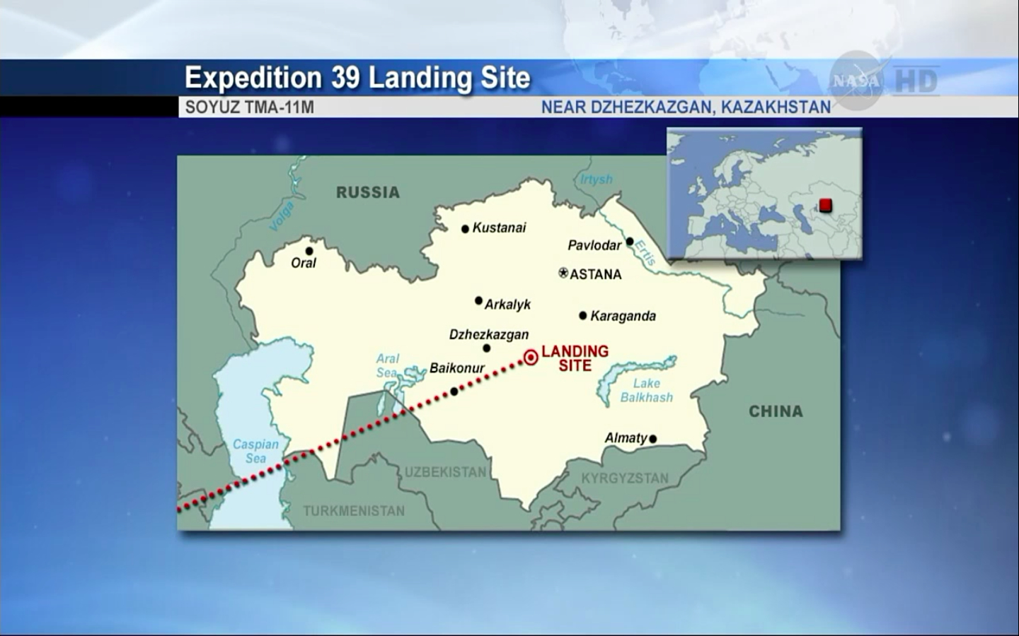 Expedition 39 Crewmembers' Landing Site