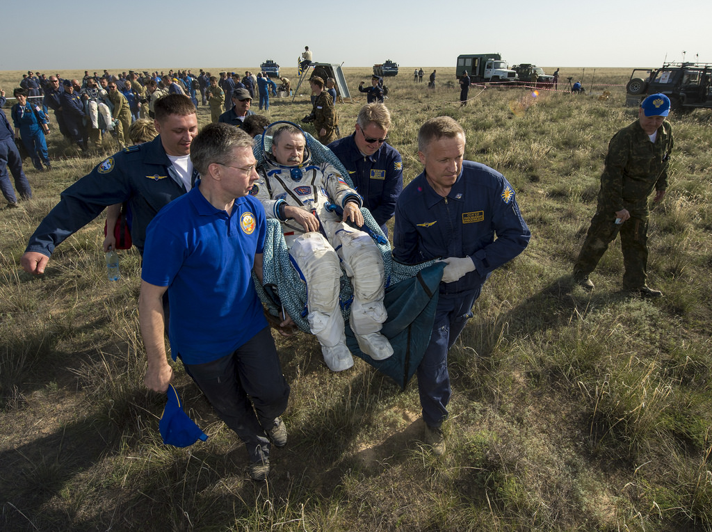 Soyuz Commander Mikhail Tyurin on Earth