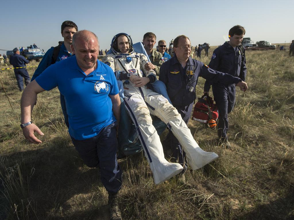NASA Astronaut Rick Mastracchio After Landing
