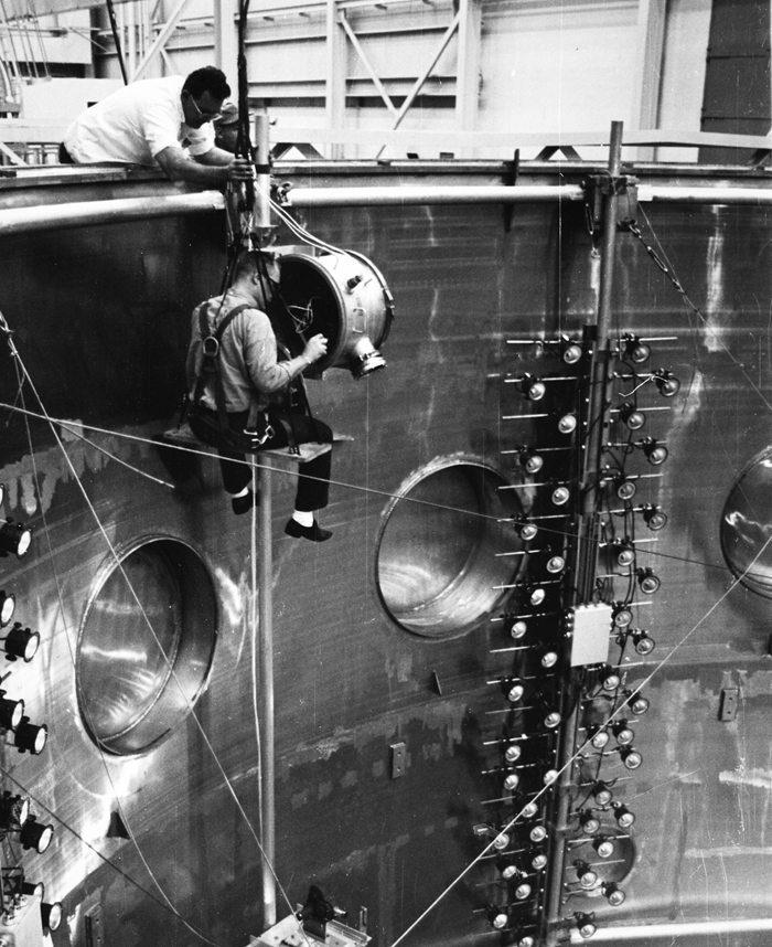 Space History Photo: Dynamic Test Chamber at Goddard Space Flight Center