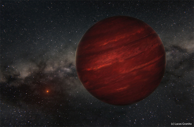 Weird Loner Exoplanet Orbits Far From Its Star