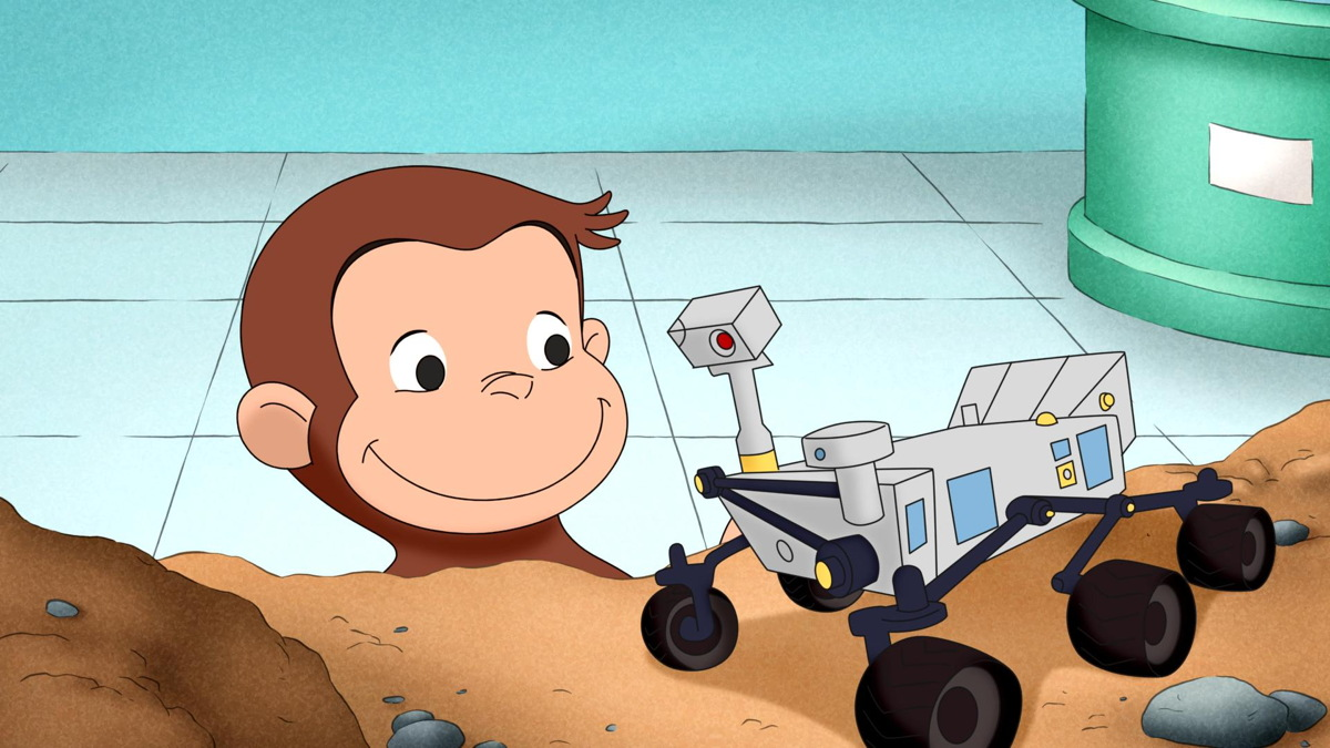 Curious George and Mars Rover Model
