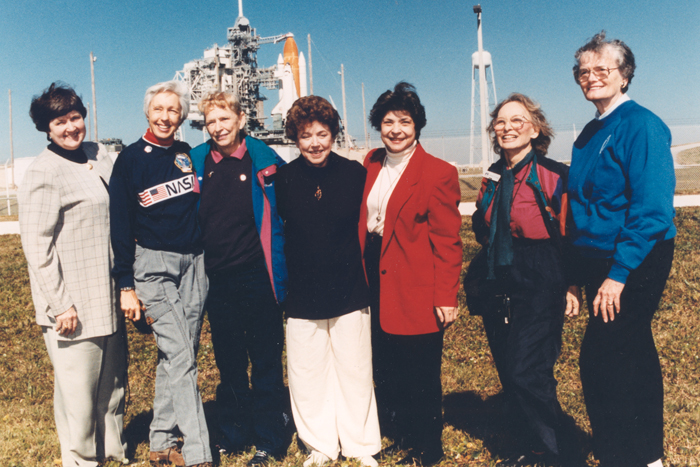 Space History Photo: Seven Members of the First Lady Astronaut Trainees in 1995