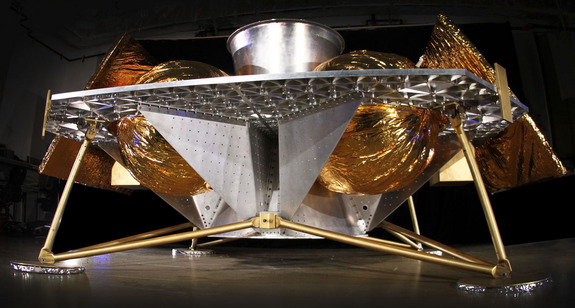 Astrobotic Technology's Griffin lander concept for NASA's Lunar CATALYST project.