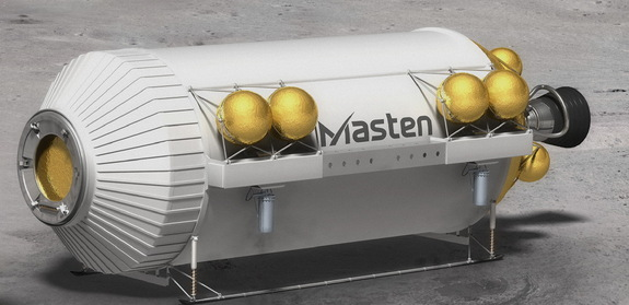 Masten's XEUS lander for NASA's Lunar CATALYST project.