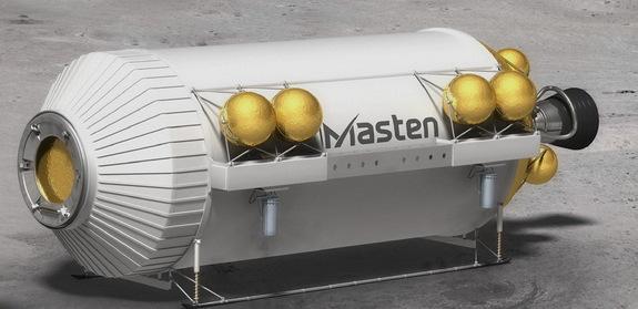 Masten's XEUS lander for NASA's Lunar CATALYST project.