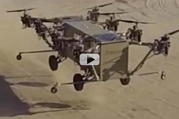 Transformer-Style 'Truck-Copter' Desert Test Successful | Quadcopter View