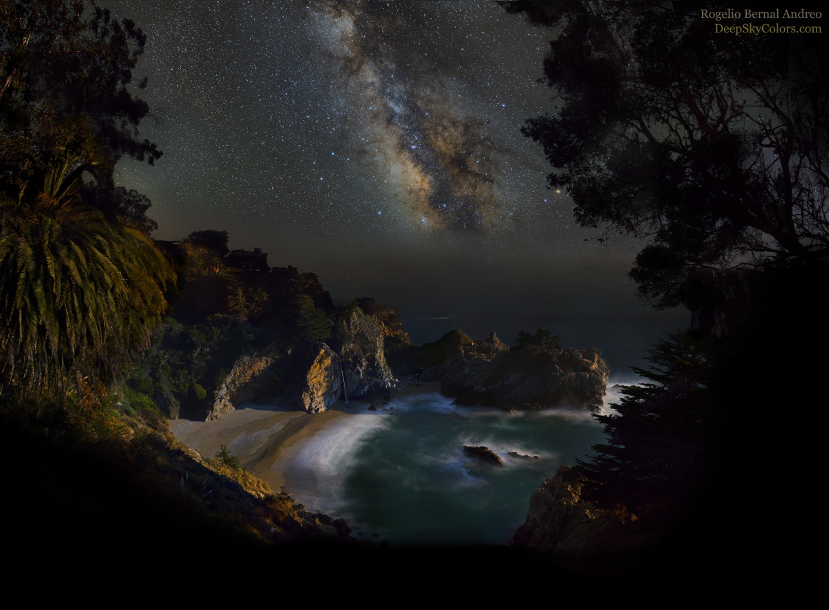 McWay Falls and Milky Way