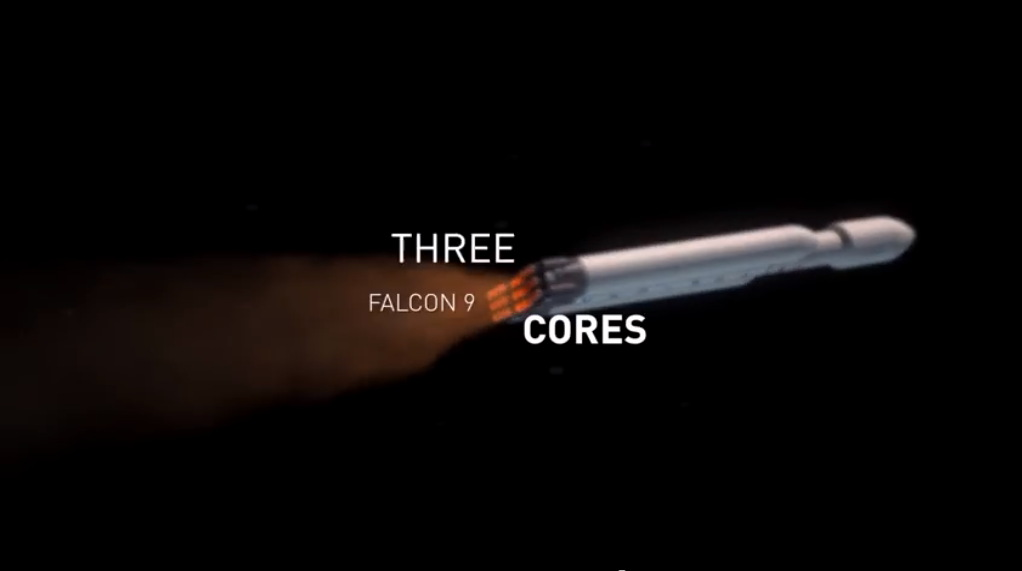 Three Falcon 9 Cores