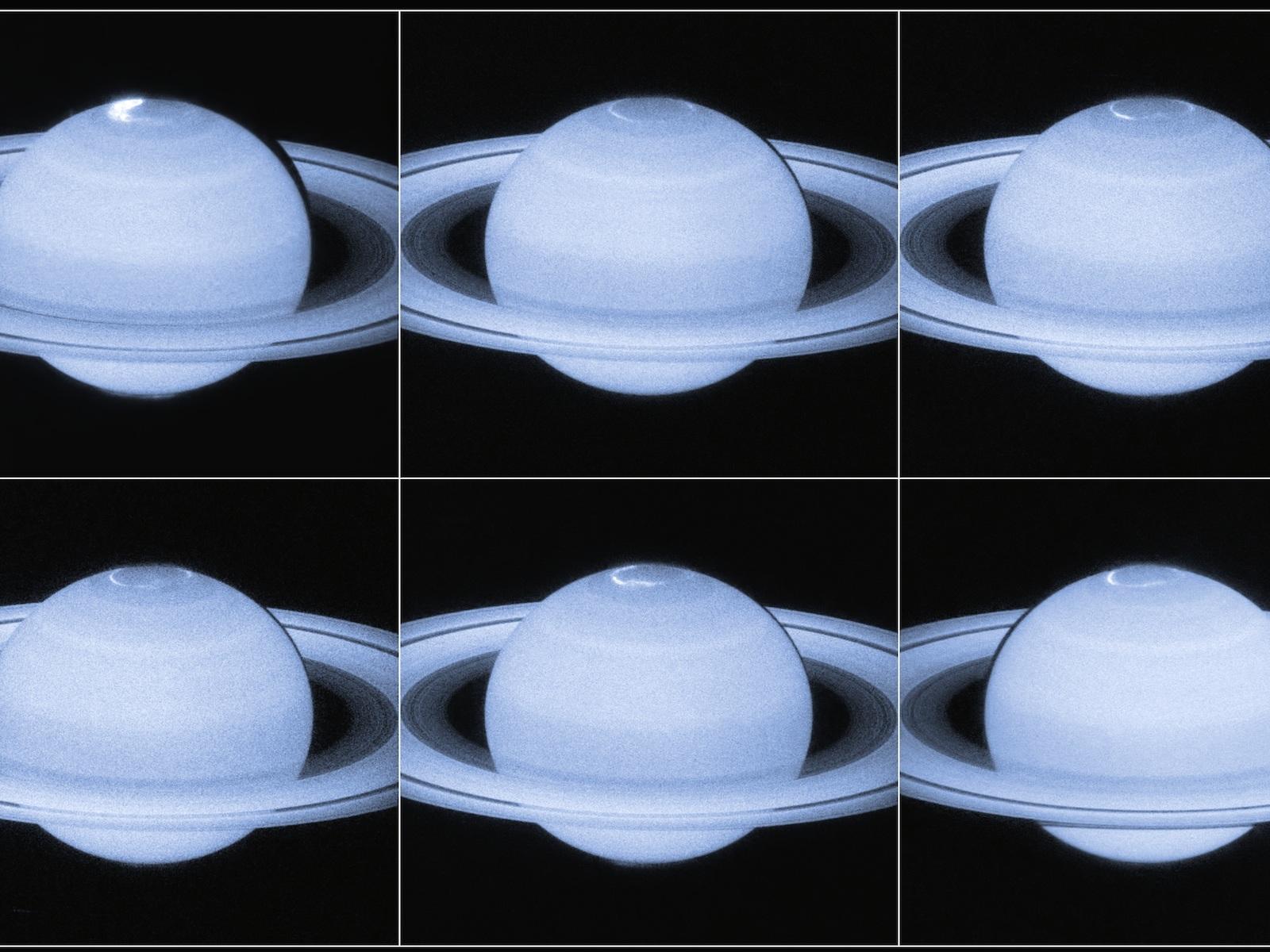 Saturn's Dancing Auroral Lights | Space Wallpaper