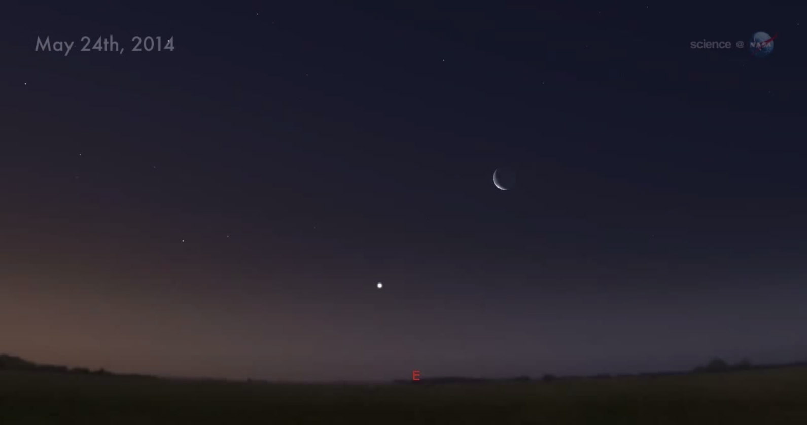 Venus and the Moon: May 24, 2014
