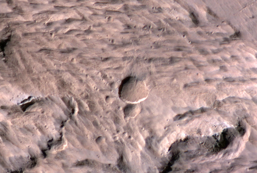 Fresh Crater on Mars