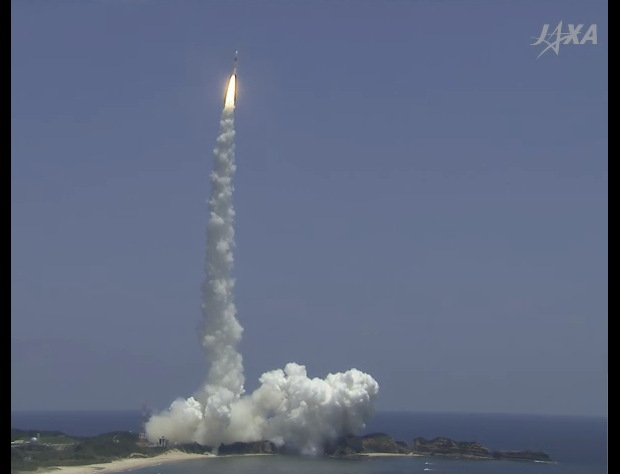 H-2A Rocket Lifts Off with ALOS 2 Satellite