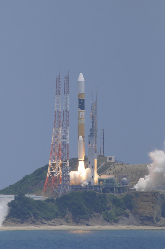 Successful Launch of H-IIA F 24 with DAICHI-2 (ALOS-2)