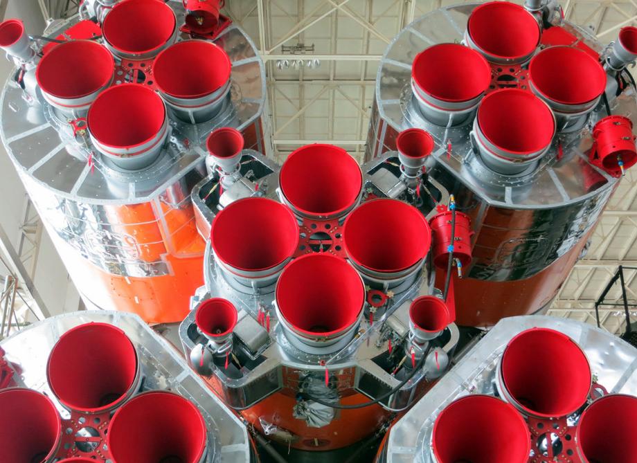 TMA-13M Soyuz Red Engines