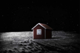 This artist illustration shows what the Moonhouse could look like when it self-assembles on the lunar surface. Image released on May 28, 2014.