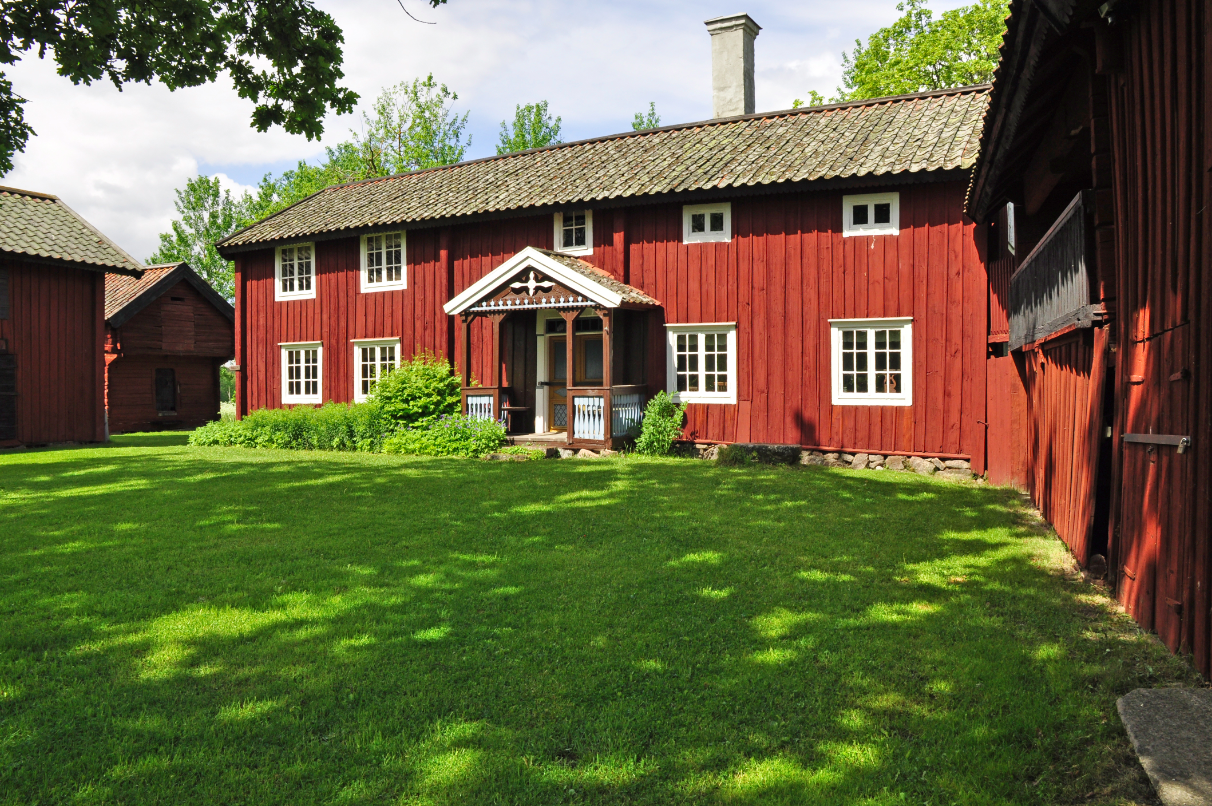 Typical Swedish House, Painted Red