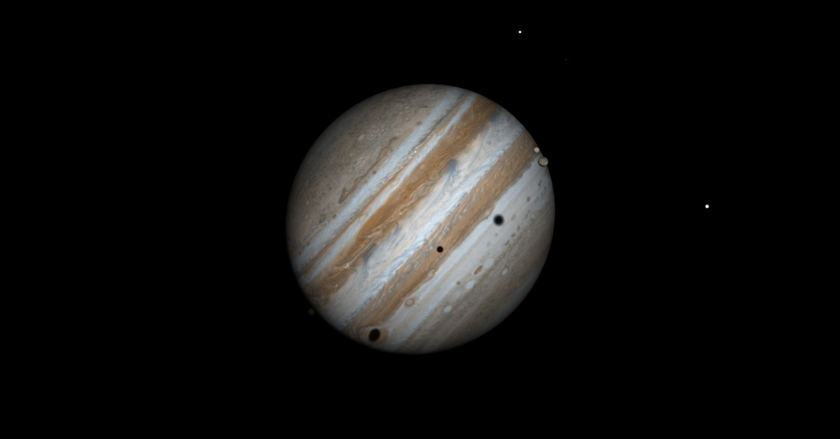 Jupiter's Moons Triple Shadow Transit of June 3, 2014
