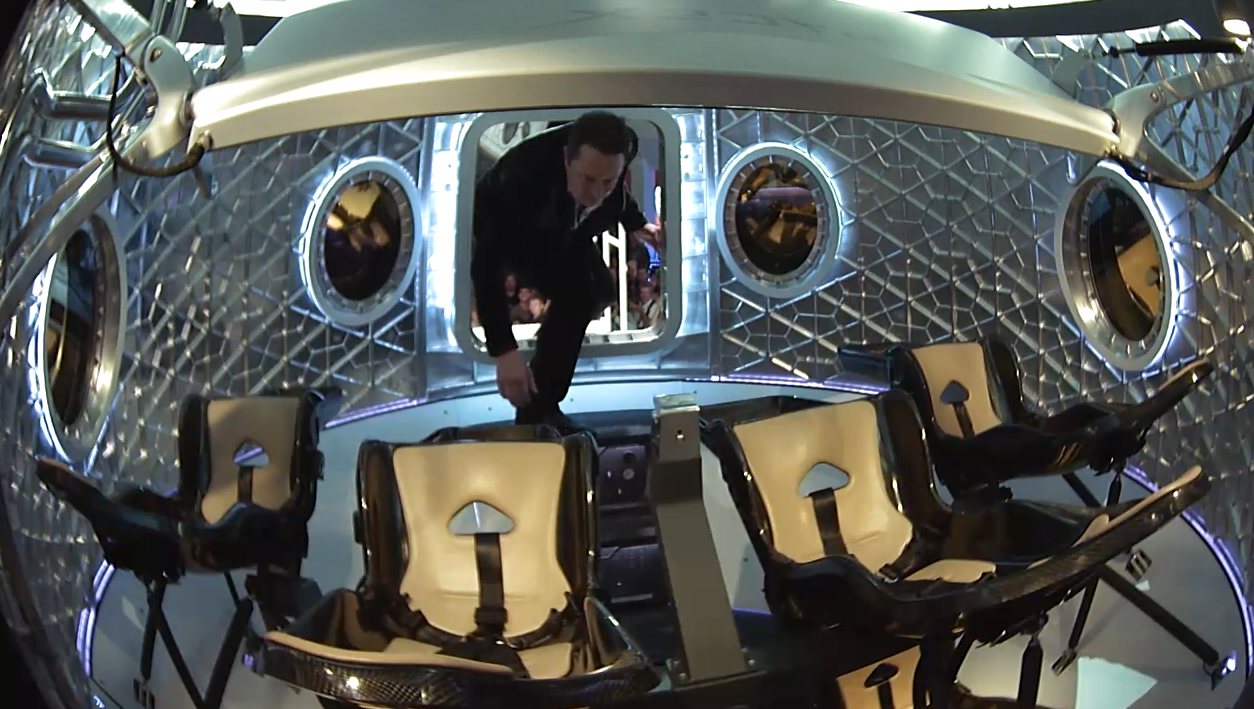 Elon Musk Inside Dragon V2