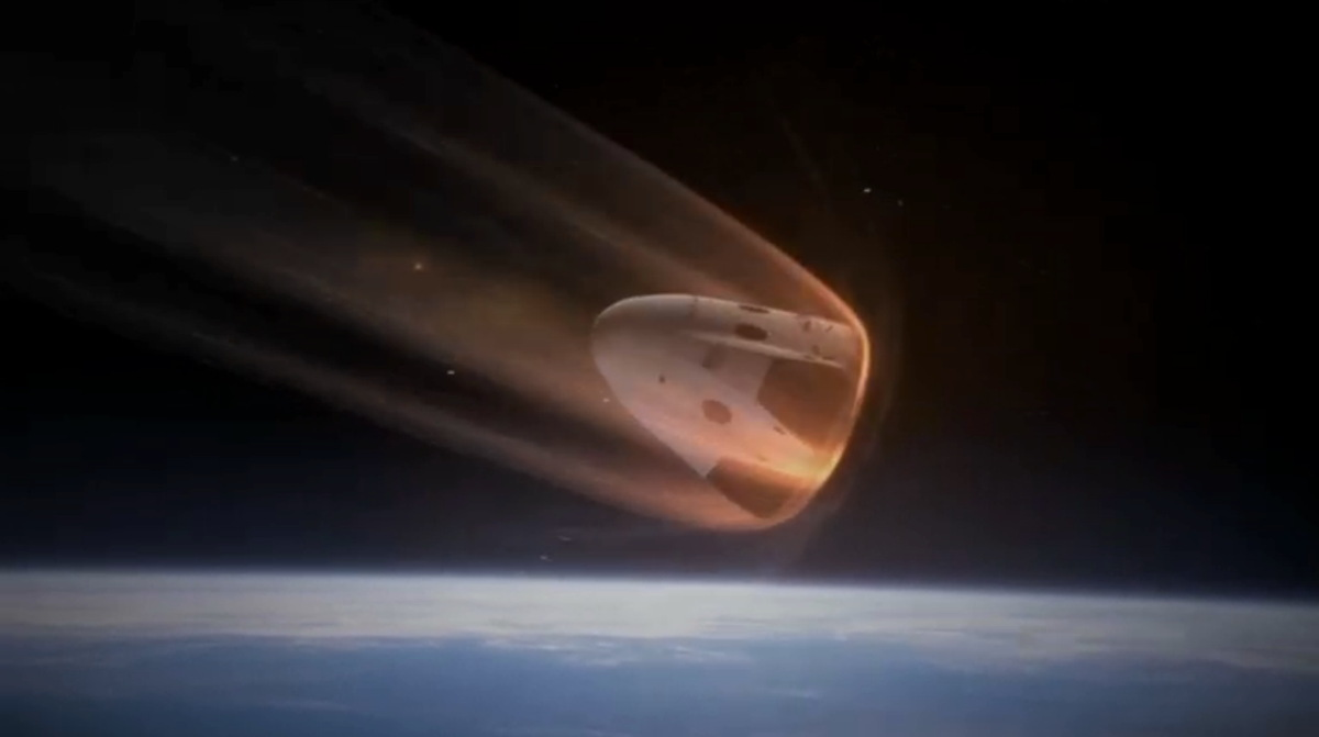 Dragon V2 Reentry