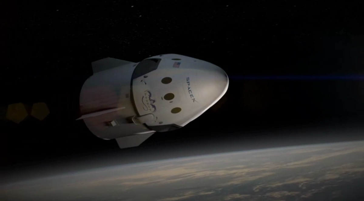 Dragon V2 Travels Through Space