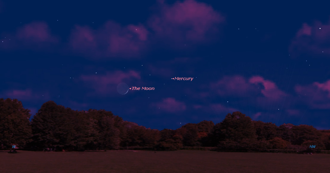 See Elusive Planet Mercury with the Moon Tonight