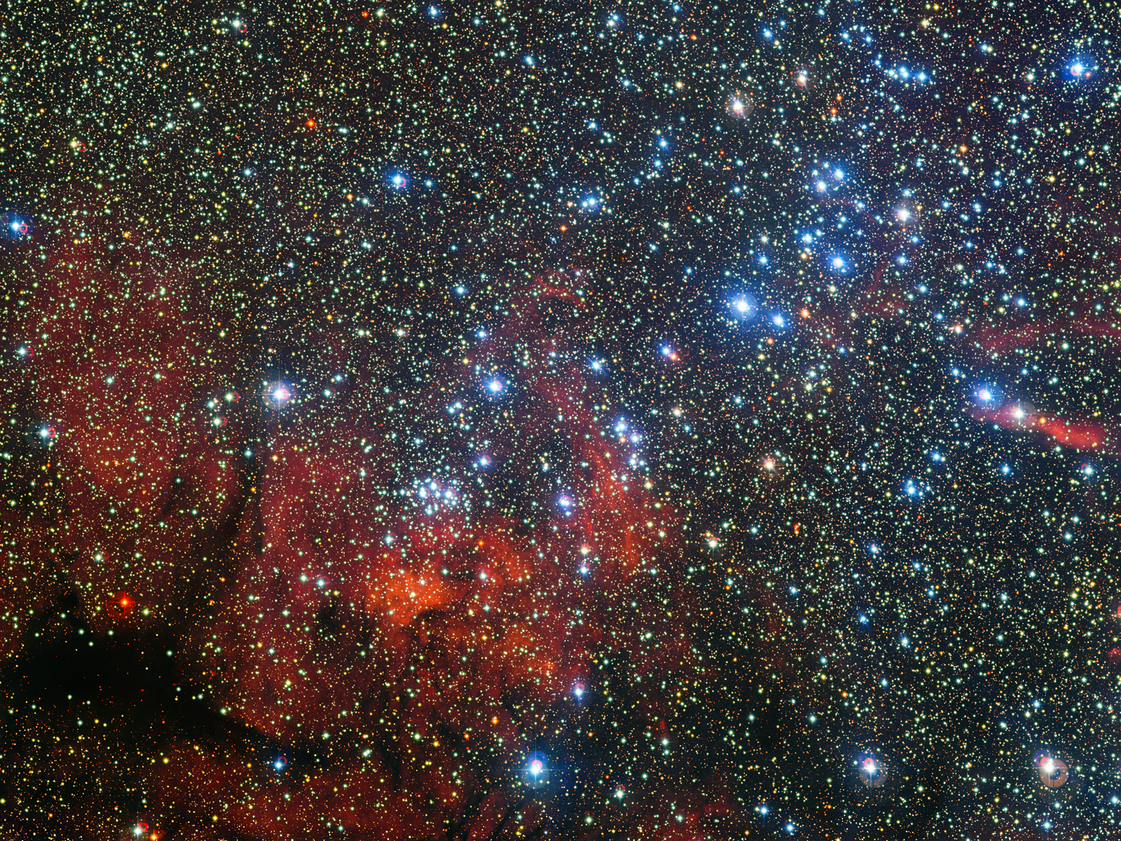 Colorful Star Cluster NGC 3590 1600