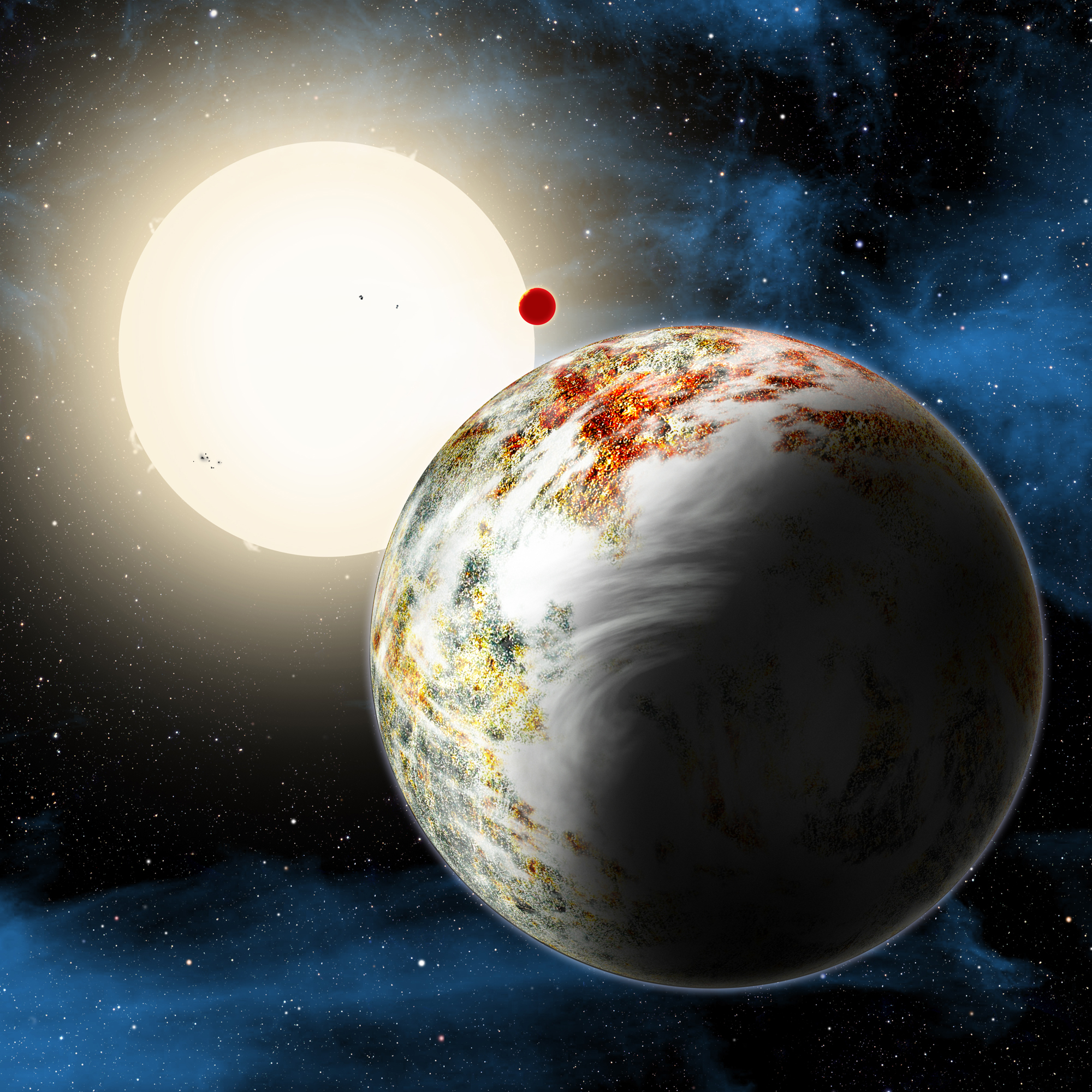 Mega-Earth Kepler-10c Planet
