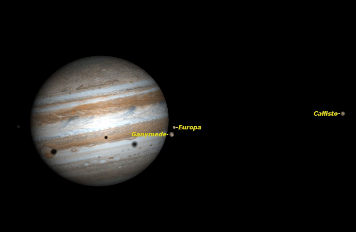Triple Shadow Transit on Jupiter, June 2014