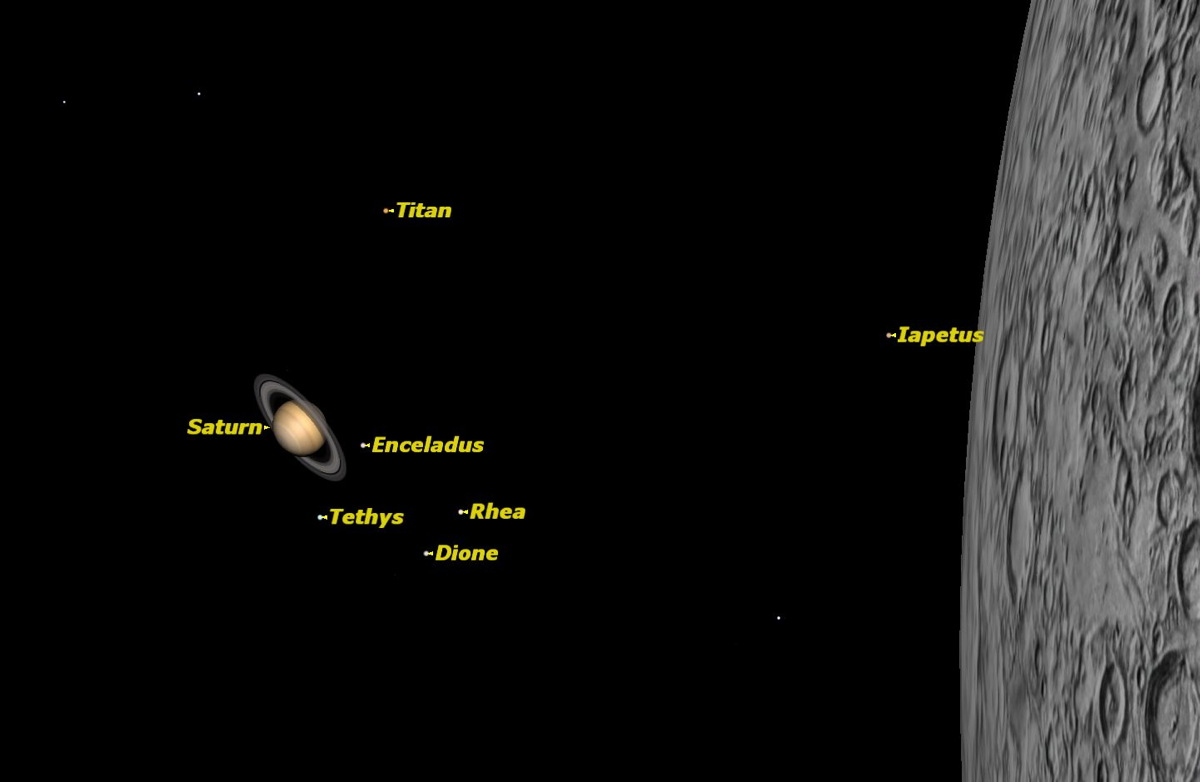 Saturn and the Moon, June 2014