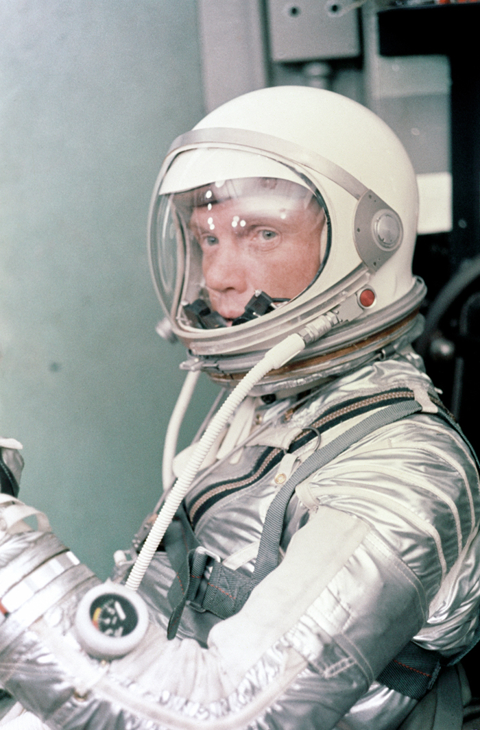 Space History Photo: Glenn Suits-Up for Launch