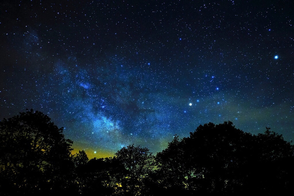 Night Sky Over the North Carolina Mountains