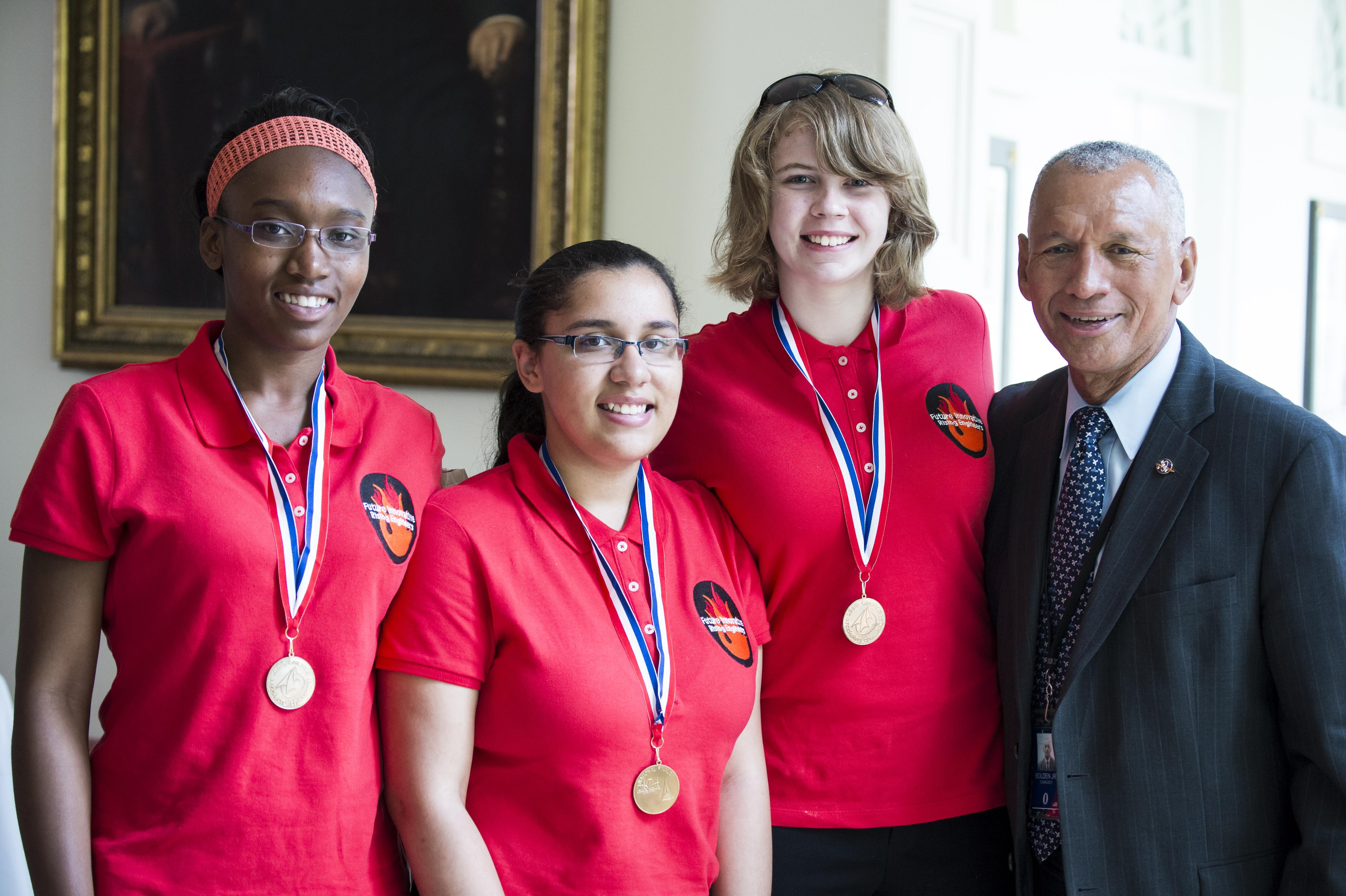 All-Girl Student Rocket Team Visits White House