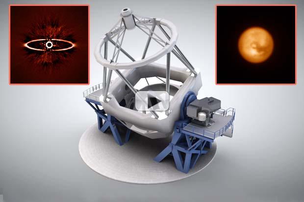 New Instrument Unveils Stellar Dust Ring & Titan Moon in Polarized Light   Video