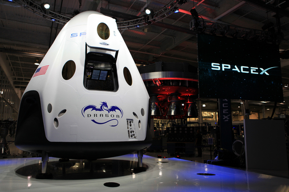 SpaceX unveiled its Dragon V2 spacecraft on May 29, 2014, showcasing a 21st-century space capsule built to carry astronauts into orbit. SpaceX founder and CEO Elon Musk detailed aspects of the design that was developed in partnership with NASA's Commercial Crew Program.
