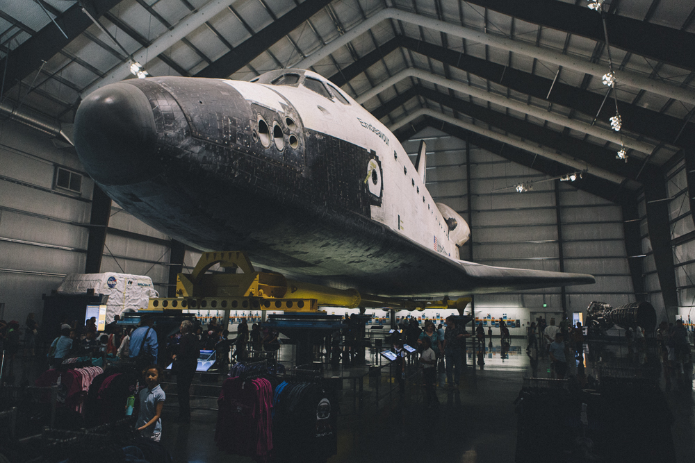 Space Shuttle Endeavour on Display at the California Science Center