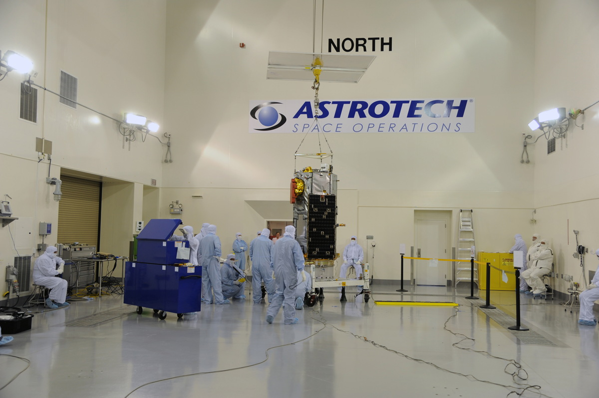 Orbiting Carbon Observatory-2 Secured Onto Test Fixture